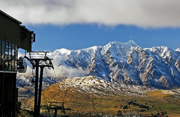 天空缆车眺望卓越山旅游图片