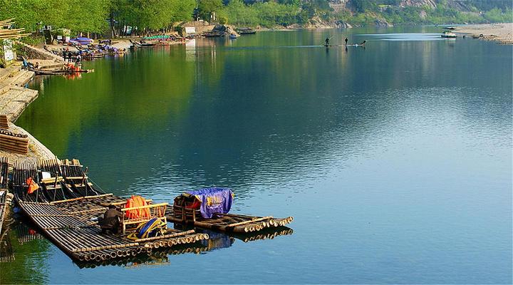 泛舟楠溪江旅游图片