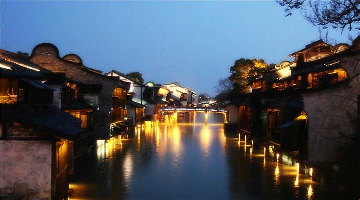 乌镇夜景旅游图片