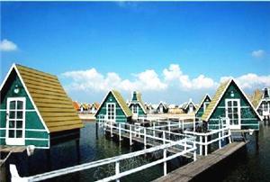 月坨岛海上小木屋