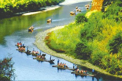 九曲溪竹筏漂流