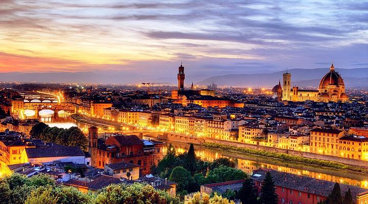 佛罗伦萨黄昏全景旅游图片