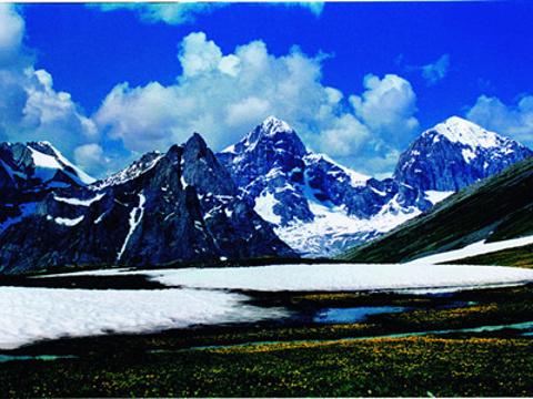 友谊峰冰川旅游景点图片