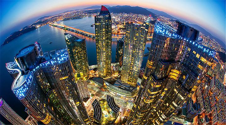 海云台夜景旅游图片