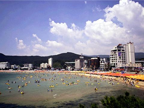 海云台海水浴场旅游景点图片
