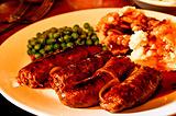 香肠和土豆泥sausage and mash