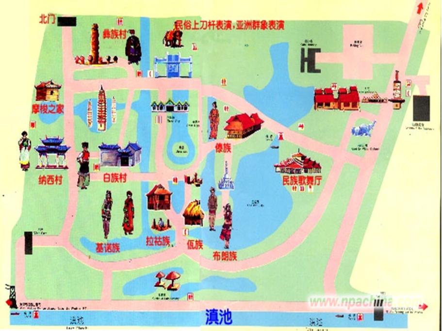 滇池旅游导图