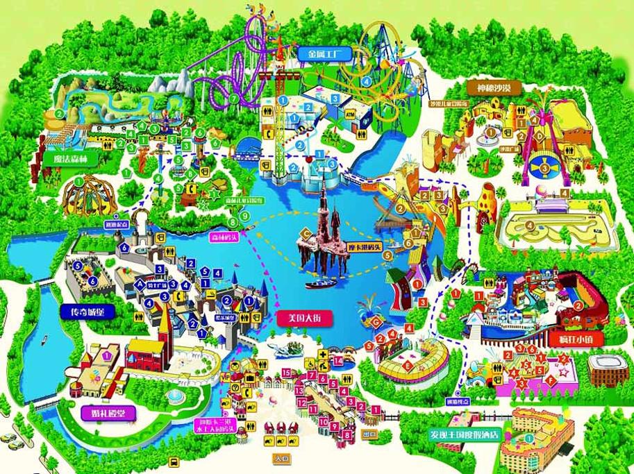 大连海昌发现王国主题公园旅游导图