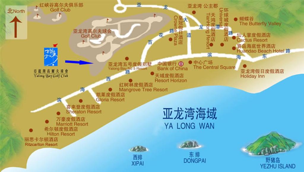亚龙湾旅游导图