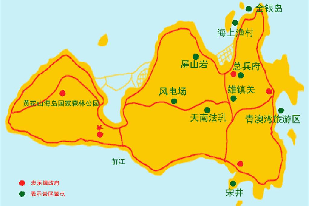 南澳岛旅游导图