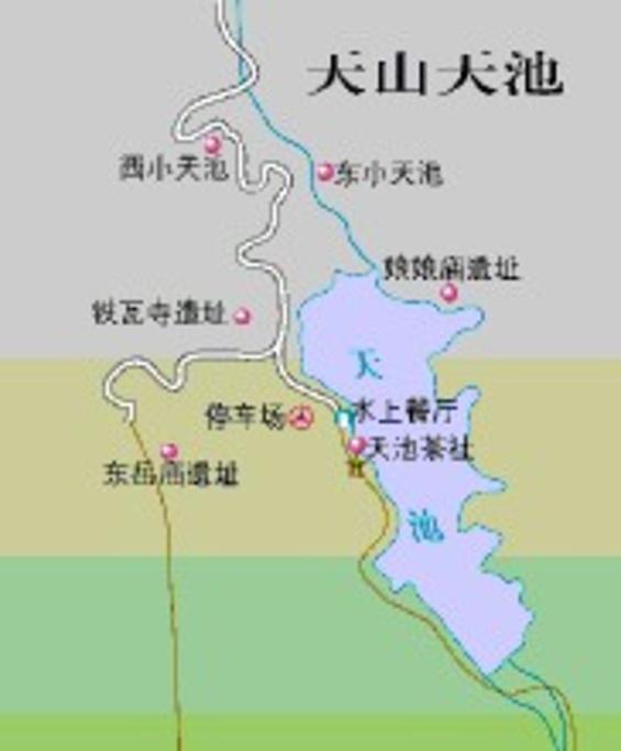天山天池旅游导图
