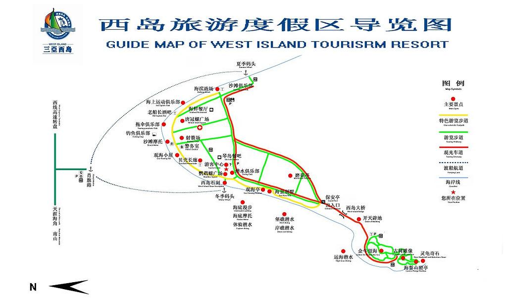 西岛旅游导图