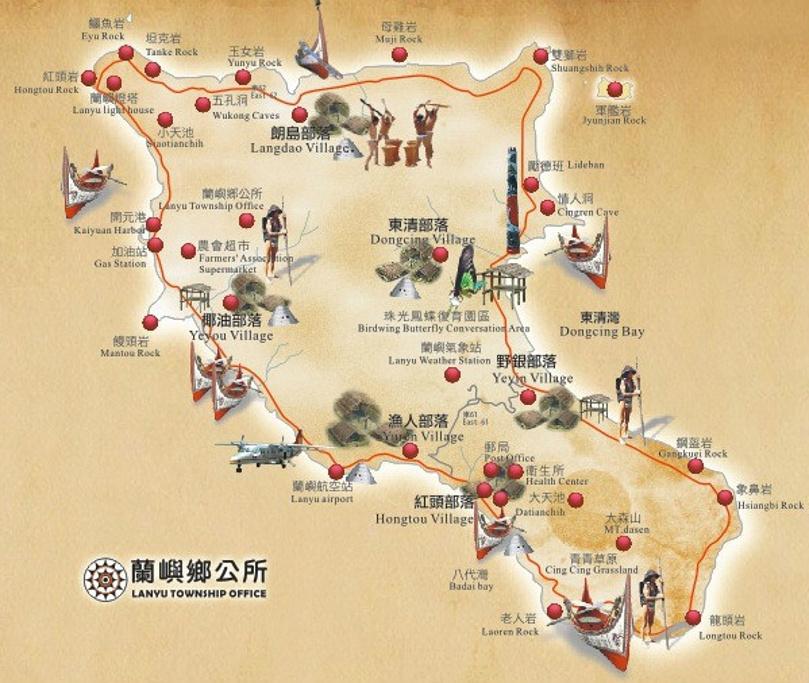 兰屿旅游导图