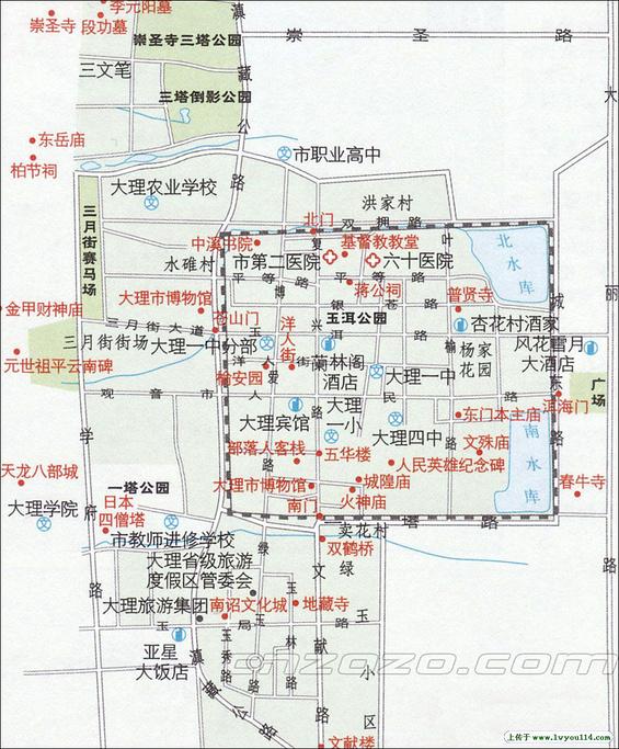 大理古城旅游导图