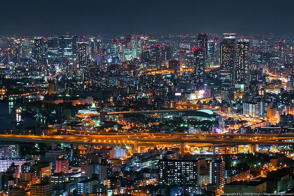 大阪夜景旅游图片