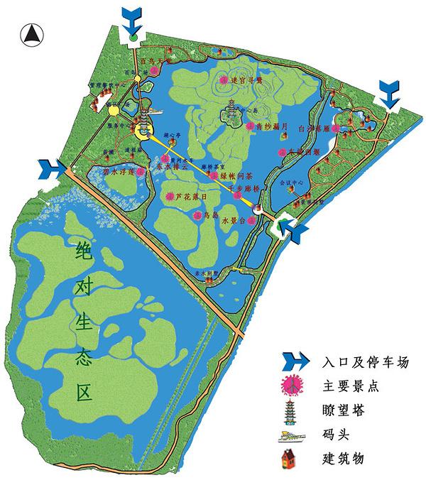 银川鸣翠湖国家湿地公园旅游导图