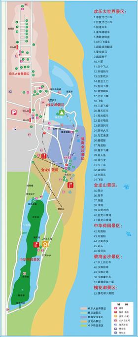 南戴河旅游导图