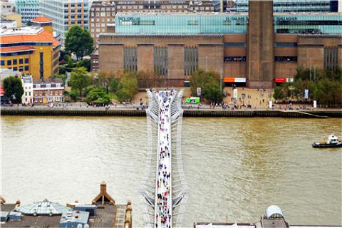 千禧桥的图片